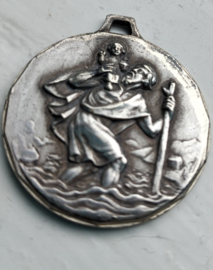 Medaille Sint Christoffel 8 cm.