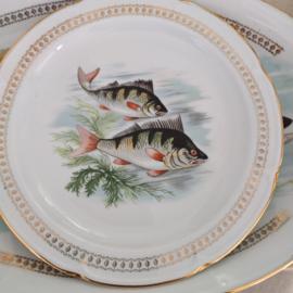 Porcelaine de Vierzon - plat visbord - Porselein