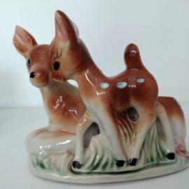 Dierenfiguur -  keramiek - Hert met jong - jaren 50