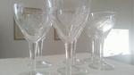 Set van 6 wijnglazen  art 1 gegraveerd