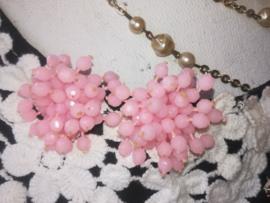 Oorbellen met clip roze