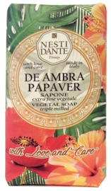 Nesti Dante zeep 250 gr. - With Love and Care - De Ambra Papaver