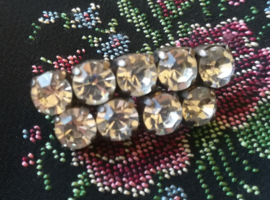 Costume Jewellery Strass broche uit 1940-1950
