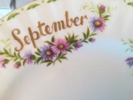 Royal Albert Flowers of the month  Bord September