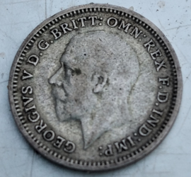 George V - Threepence -  Engeland - 1933 - zilver