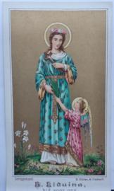 Bidprentje Heilige maagd Liduina