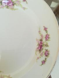 Société Céramique - Roosjes - ontbijtbord 21 cm