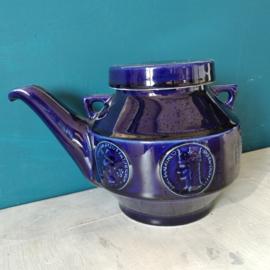 Van Nelle kobalt blauwe theepot zonder hengsel