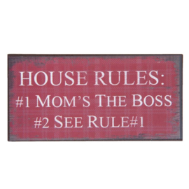 Koelkastmagneet House Rules