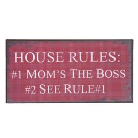 Koelkastmagneet House Rules