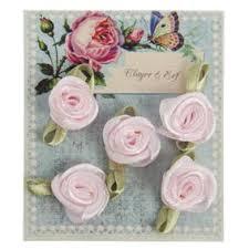 Zijde roosjes in zakje roze