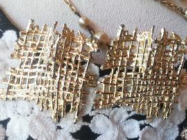 Oorbellen clips met metaal  4 cm