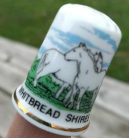 Vingerhoed - Bone China - Souvenir - Whitbread Shires