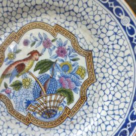 Societe ceramique Maestricht Bord Paradijsvogel decor 601