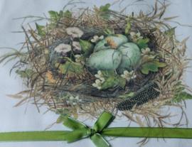 Mary Lake Thompson Schort met twee zakken met een nest decoratie