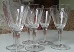 Wijnglazen Kristal 6 stuks art 2 Doyen Belgium