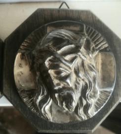 Wanddecoratie Jezus - hout en metaal