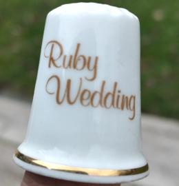 Vingerhoedje Ruby Wedding