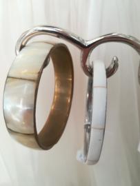 Armband schelp met chroom