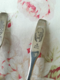 Oneida LTD Silversmith Verzamellepel Sir Winston Churchill