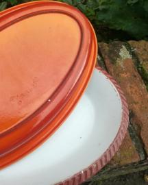 Oranje- Gietijzer - DRU - ovenschaal 28 cm