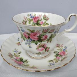 Royal Albert - Moss Rose - herenmodel kop en schotel