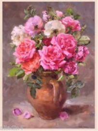 Roses in a stoneware