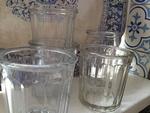 Franse jampotten  glas