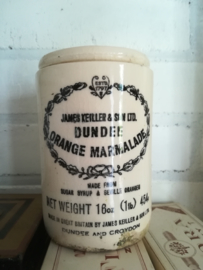 Antieke confituur marmelade pot DUNDEE ORANGE MARMALADE