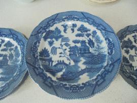 Blauw witte borden