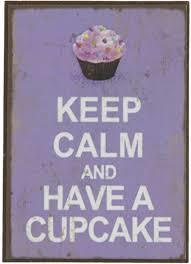 Koelkastmagneet Keep Calm and have a cupcake