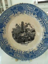 Societe ceramique Maestricht Vue de Dordrecht wandbord 19,8 cm