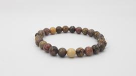 Natuurlijke tinten stenen  kralenarmband