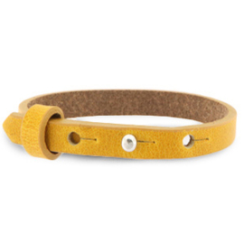 Cuoio armband honing geel