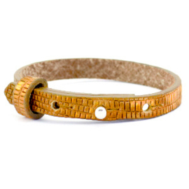 Cuoio armband gouden oogst