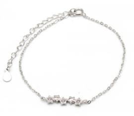 925 Sterling Silver armband kleine sterretjes en zirconia