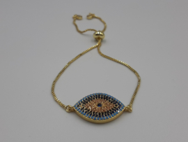 Gold plated armband met tussenzetsel