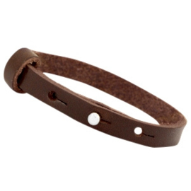 Cuoio armband donker bruin