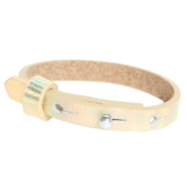 Cuoio armband holografisch champagne