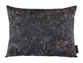 181. Kussen Batik cotton Dark Blue 50x40