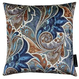 256 Pillow IV Paisley Garden Royal Blue 45x45