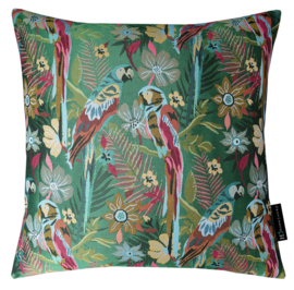 231 Pillow Two Parrots in Love Green 50x50
