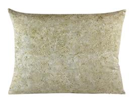 180. Kussen Batik cotton Cream 50x40