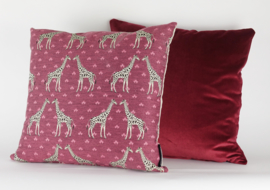 002 Kussen Jacquard giraf 45x45