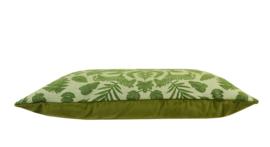 199 Kussen Jacquard Chenille Green 60x40