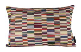 042 Kussen Jacquard short stripes light 60x40