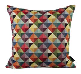 124 Kussen Gobelin triangle   50x50