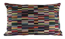 019 Kussen Jacquard dark short stripes 60x40