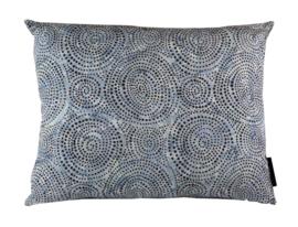 177. Kussen Batik cotton Blue 50x40