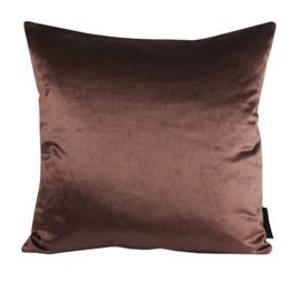 """194 Kussen Satijn Velours """"Chocolat Brown 8565"""" 45x45"""